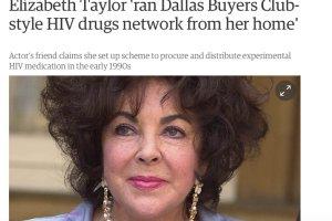 """Prawie jak w """"Witaj w klubie"""". Elizabeth Taylor rozprowadzała nielegalne leki na HIV"""