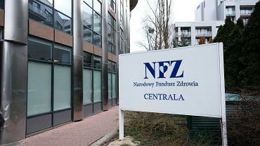 Siedziba Narodowego Funduszu Zdrowia w Warszawie (zdjęcie ilustracyjne)