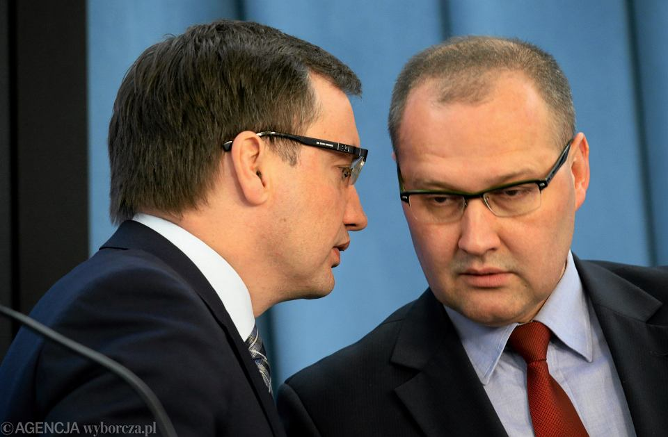 Zbigniew Ziobro i Andrzej Romanek