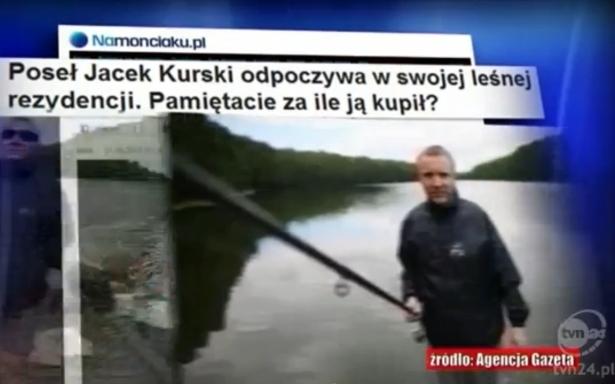Nasz tekst o Jacku Kurskim i jego leśniczówce znalazł się w materiale programu TVN