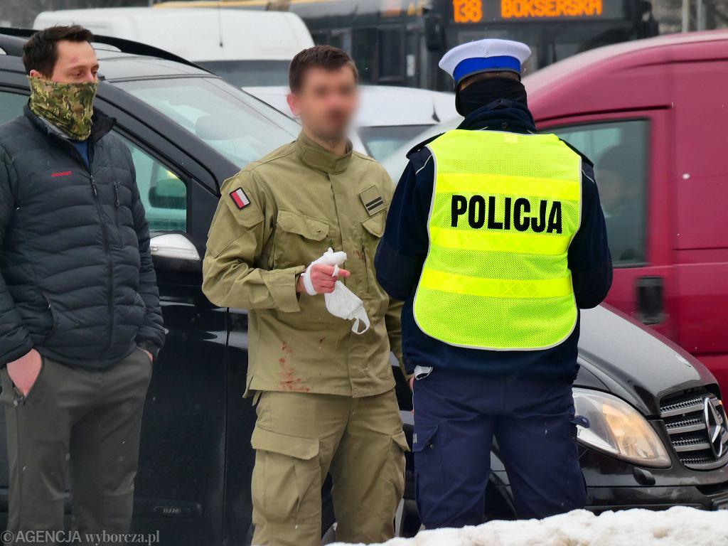 Warszawa. Wypadek z udziałem samochodu SOP