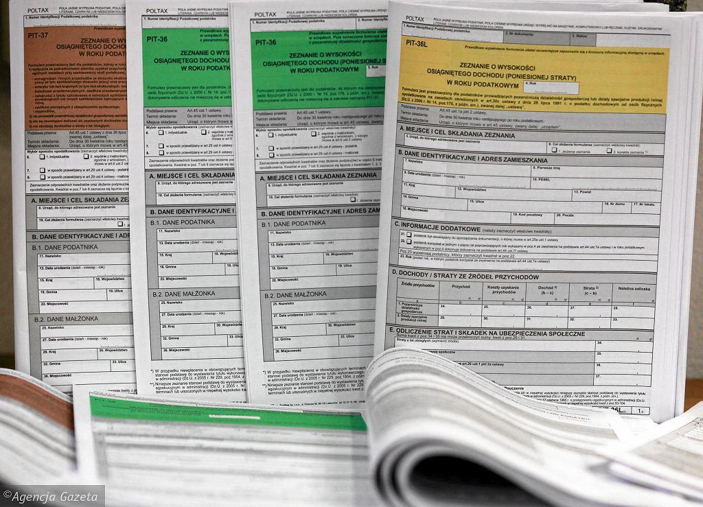 Deklaracja podatkowa, zdjęcie ilustracyjne
