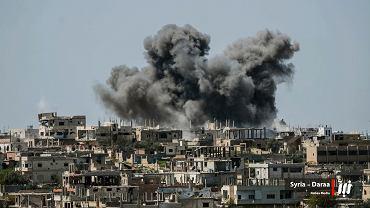 Bombardowania w rejonie Daraa w lipcu tego roku