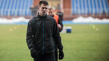 Josip Barisić na treningu Zawiszy