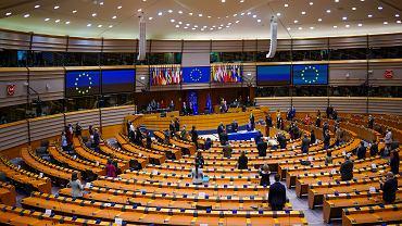 Parlament Europejski. Bruksela ( zdjęcie ilustracyjne ).