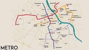 Planowana trasa III linii metra w Warszawie