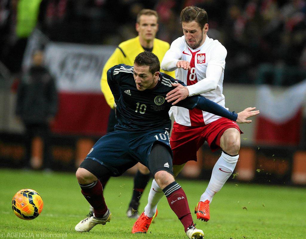 Grzegorz Krychowiak w meczu ze Szkocją