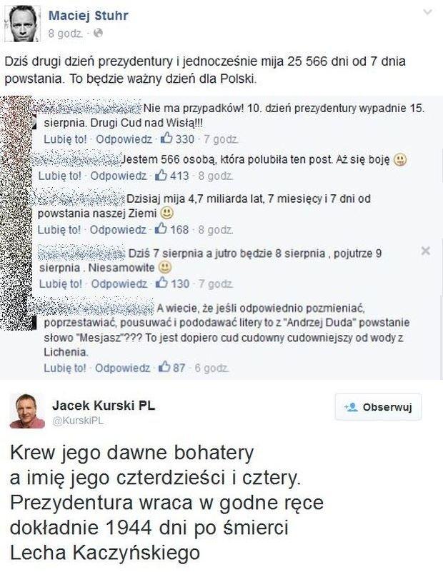 Komentarze na profilu Macieja Stuhra