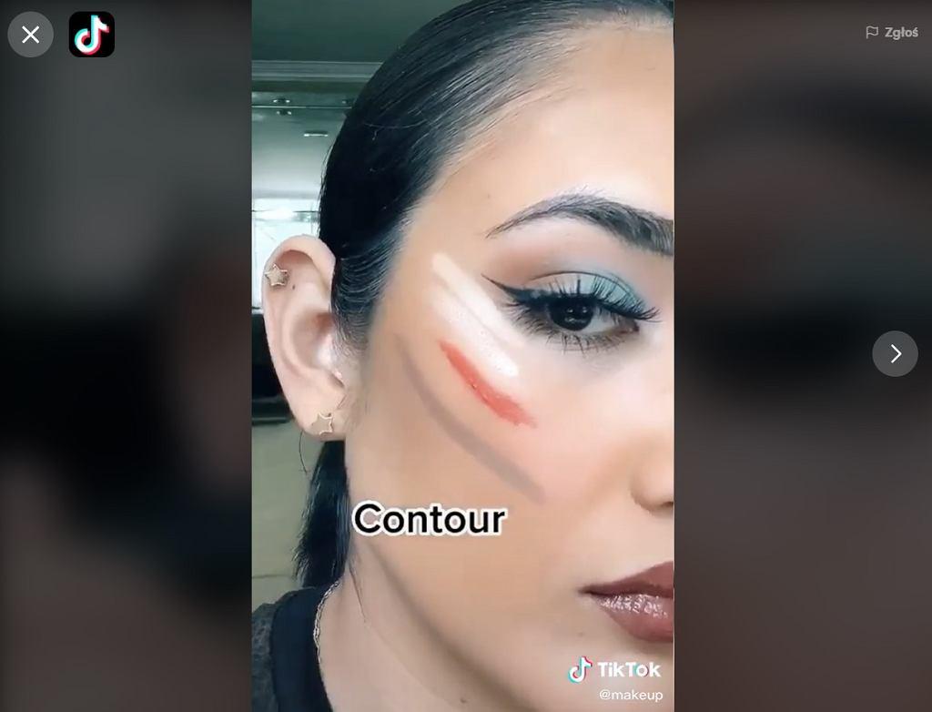 TikTok rozświetlenie twarzy
