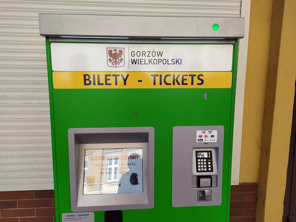 Niedziela, 28 marca 2021 r. Nowe biletomaty w Gorzowie