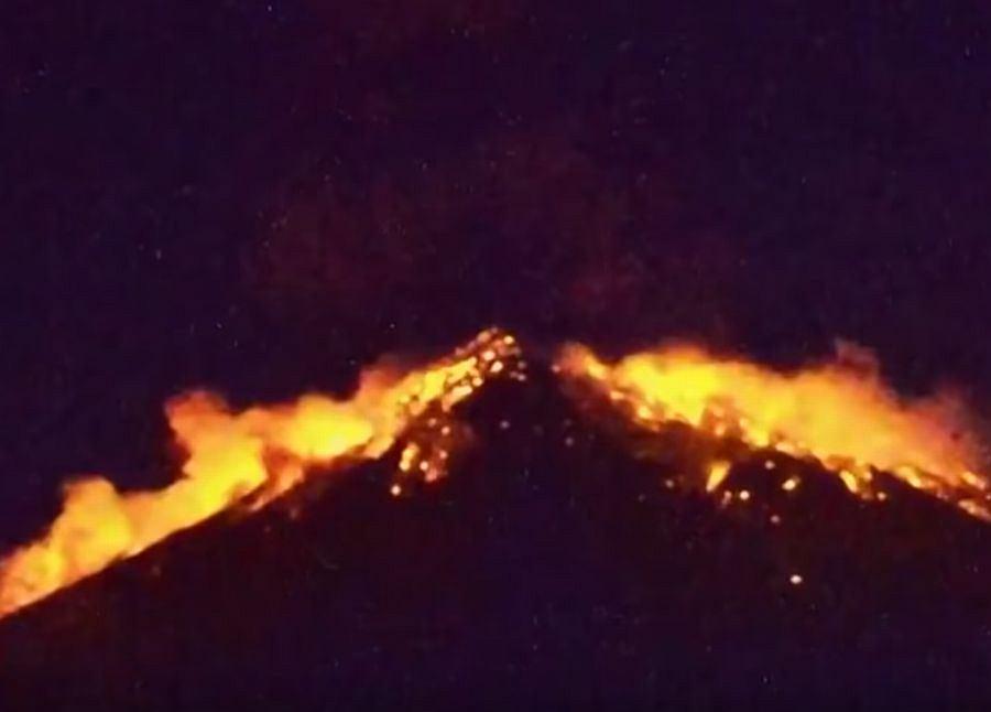 Wybuch wulkanu Agung na Bali w Indonezji