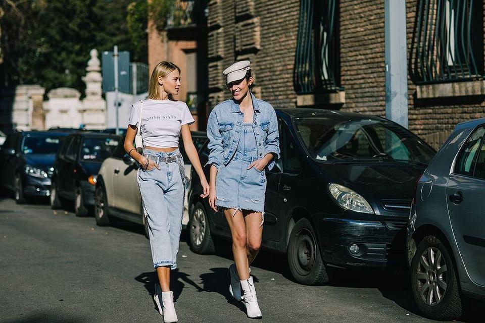 Jeansowe ubrania na wiosnę