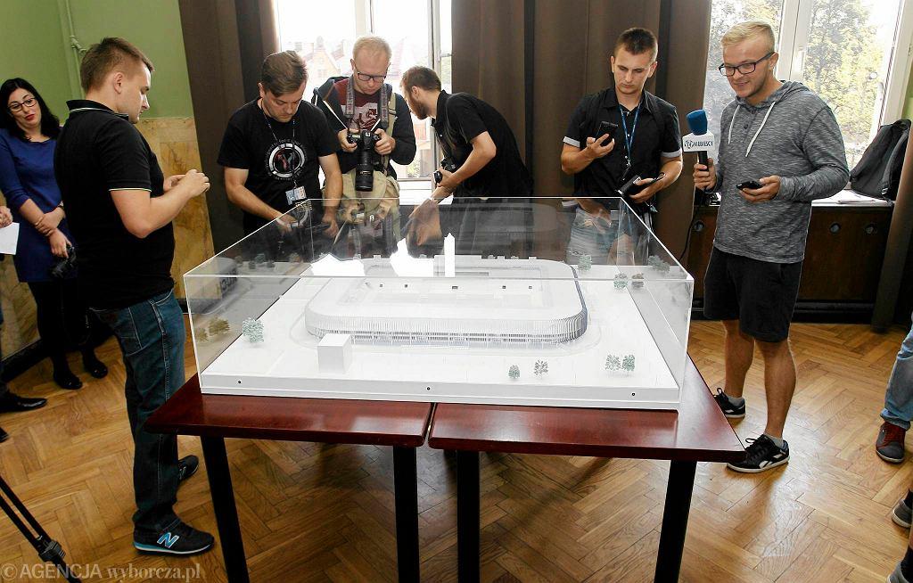 Prezentacja makiety nowego stadionu Ruchu Chorzów