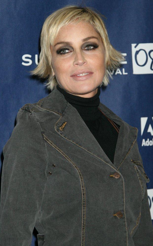 Sharon Stone na Festiwalu Filmowym w Sundance w Utah w 2008 roku