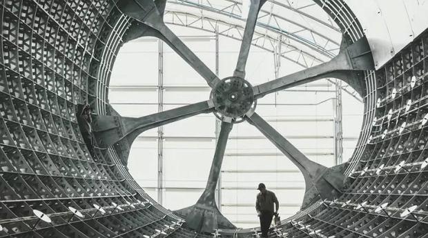 Szkielet budowanej rakiety BFR