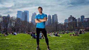 Jacek Bilczyński podczas treningu w Central Park w Nowym Jorku.