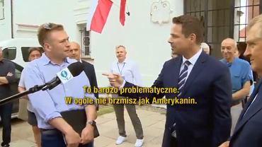 'Amerykanin' z Podlasia próbował ośmieszyć Trzaskowskiego (fot. Twitter/@LewitujacyUmysl)