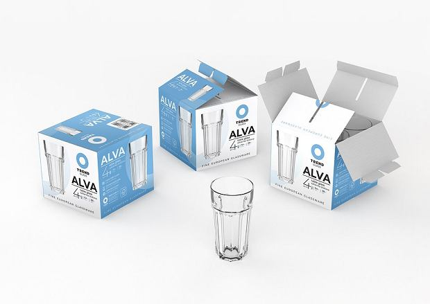 Opakowanie szklanek ALVA