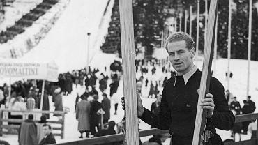 Stanisław Marusarz w trakcie zawodów narciarskich o mistrzostwo Podhala, styczeń 1939 r.