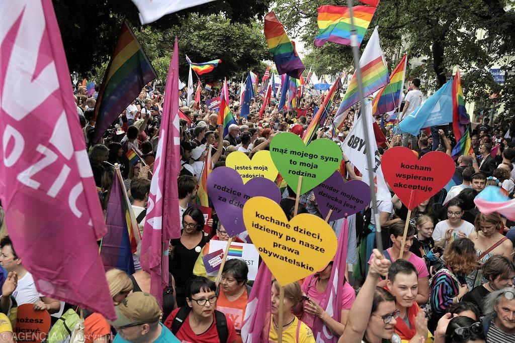 Pierwszy płocki Marsz Równości - pod hasłem 'Płock napędza równość'. 10 sierpnia 2018