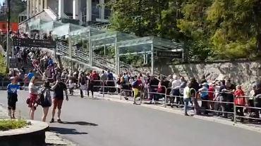 Tłumy przed kolejką na Kasprowy Wierch