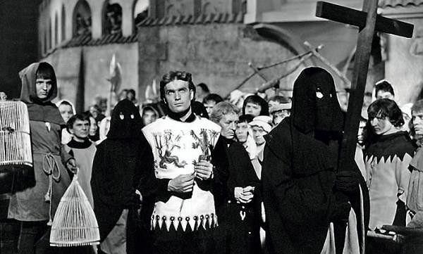 Mieczysław Kalenik jako Zbyszko z Bogdańca. Kadr z filmu 'Krzyżacy'