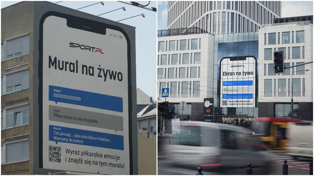 Mural na żywo i ekran na żywo Sport.pl