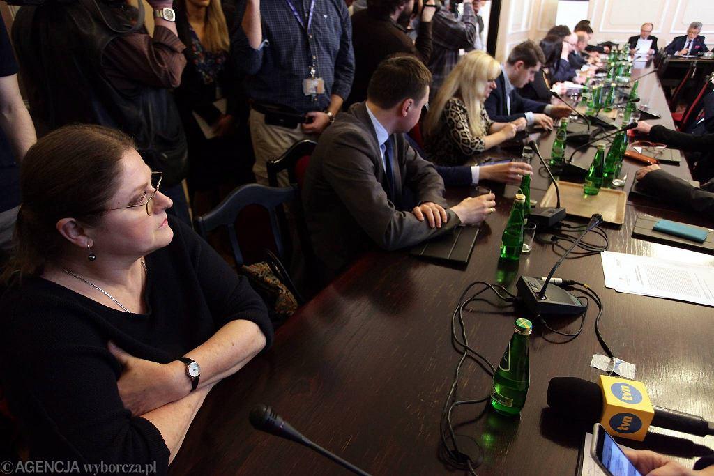 Krystyna Pawłowicz podczas posiedzenia Komisji Sprawiedliwości i Praw Człowieka