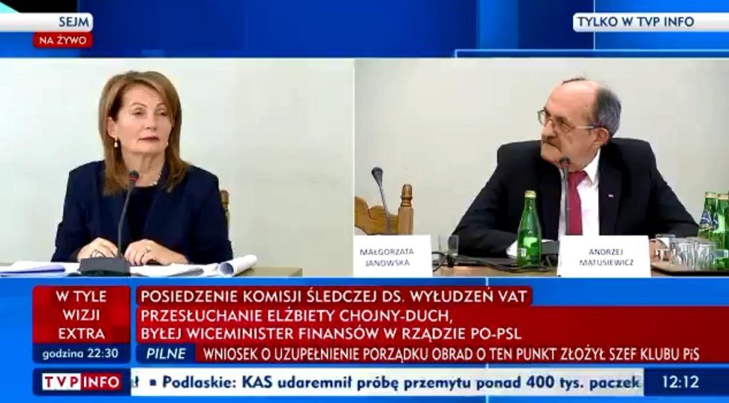 Elżbieta Chojna-Duch na komisji śledczej ws. VAT