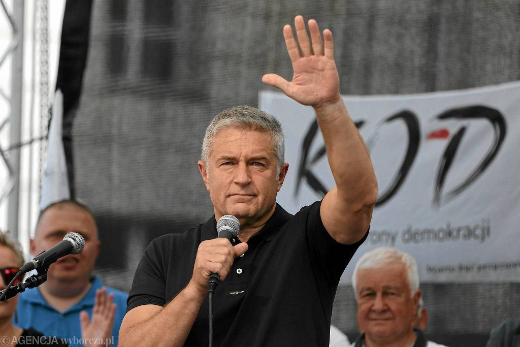 Na proteście przemawiał m.in. Władysław Frasyniuk