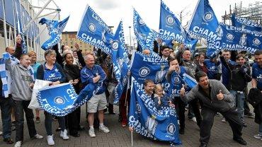 Kibice Leicester na stadionie