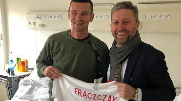 Adam Frączczak i Jerzy Brzęczek