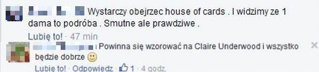 Komentarze na profilu Doroty Wróblewskiej