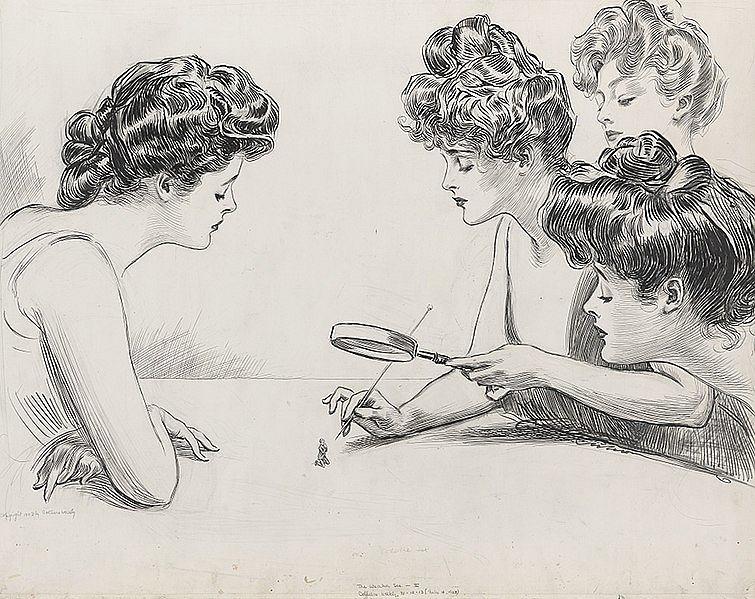 Słaba płeć - rysunek z 1903 roku