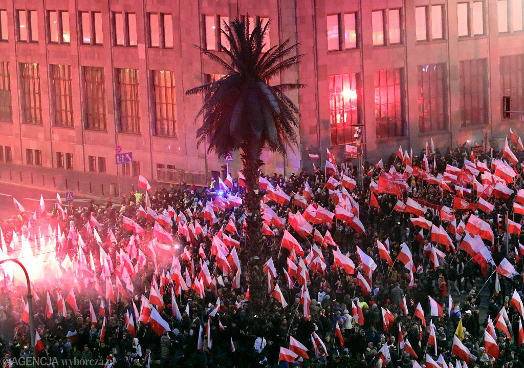 Marsz Niepodległości w Warszawie 11 listopada 2018 r.