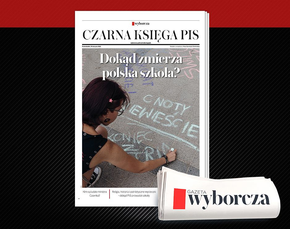 'Czarna Księga PiS' poświęcona edukacji w poniedziałek, 30 sierpnia w 'Wyborczej'