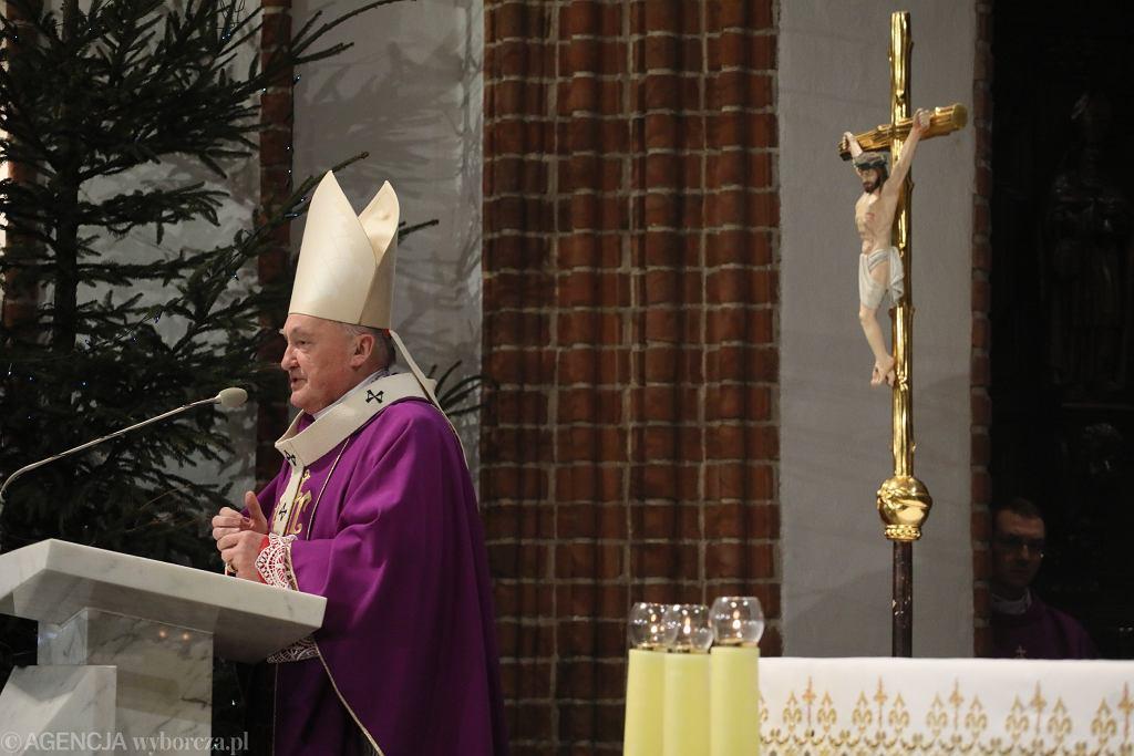 Arcybiskup Kazimierz Nycz, msza w intencji Pawła Adamowicza w Warszawie