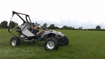 """SkyRunner - Prototype 02. Na lądzie śmigło daje niezłego kopa. W powietrzu """"prowadzi się"""" wygodniej niż paralotnia"""