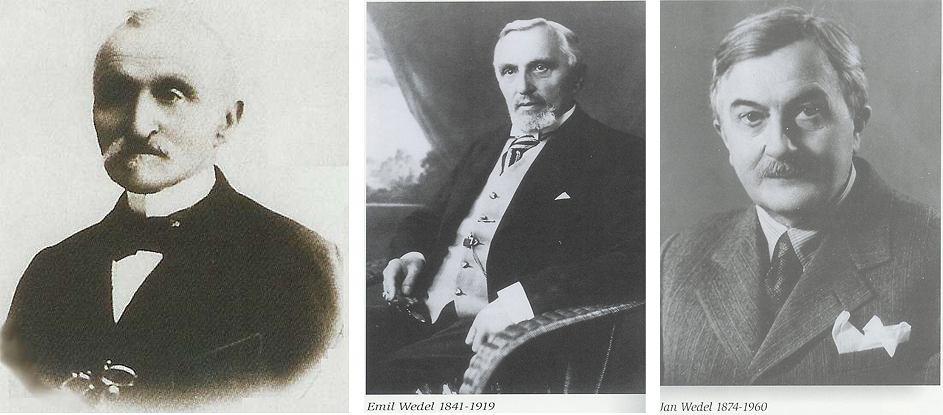 Od lewej: Karol Wedel, Emil Wedel, Jan Wedel