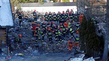 Wybuch gazu w Szczyrku. Akcja ratownicza
