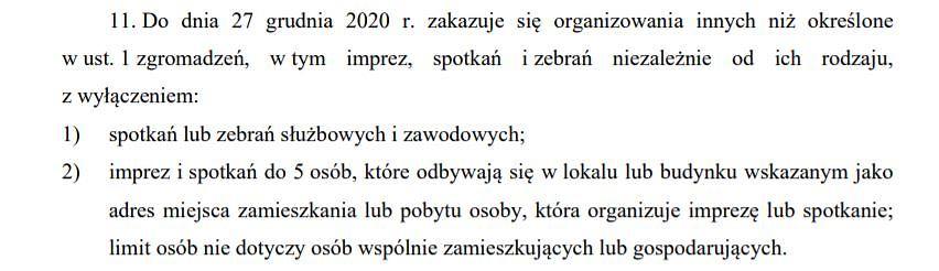 Projekt rządowego rozporządzenia