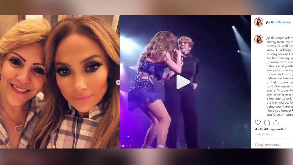 Jennifer Lopez w tańcu z mamą