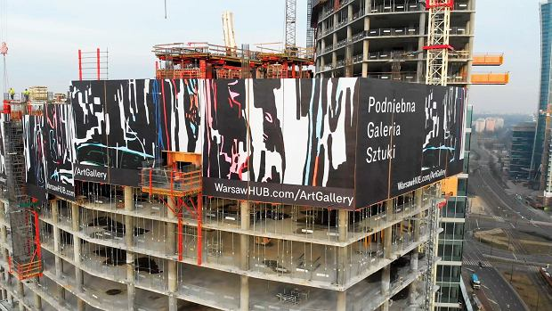 Pierwsza w Europie podniebna galeria sztuki powstała na konstrukcji wieżowca The Warsaw HUB