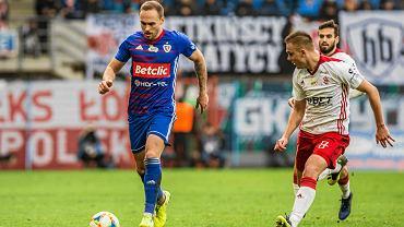 Adrian Klimczak w meczu Piasta Gliwice z ŁKS