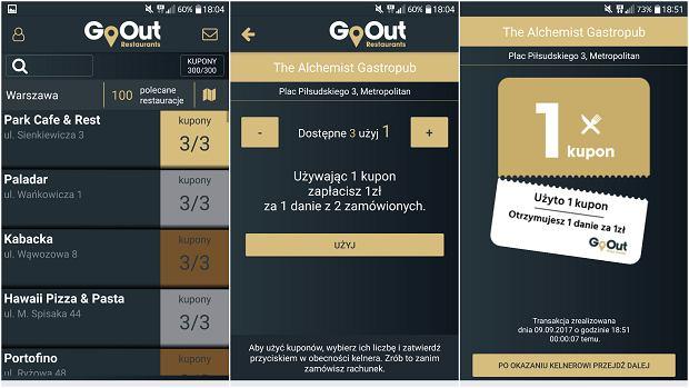 Korzystanie ze zniżki w aplikacji GoOut