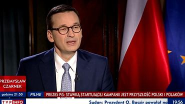 Mateusz Morawiecki w TVP Info