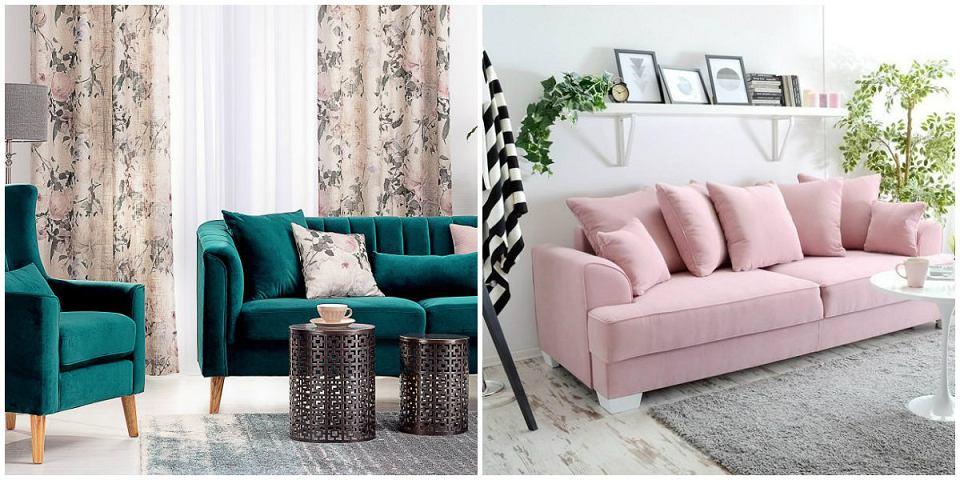 Aksamitna sofa