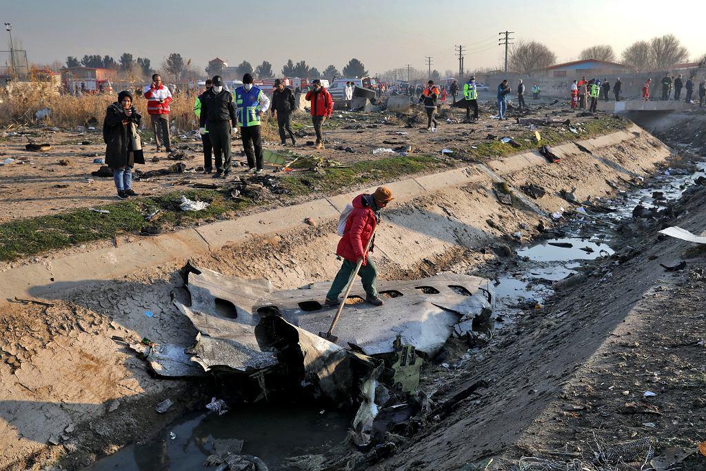Katastrofa samolotu ukraińskich linii lotniczych w Iranie