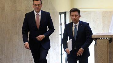 Premier Mateusz Morawiecki i Michał Dworczyk