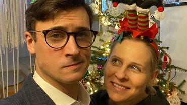 Mateusz Damięcki i jego żona Paulina Andrzejewska